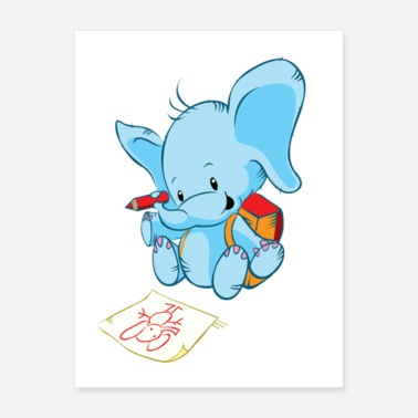 First Day Of First Day of School - Cute Elephant - Poster