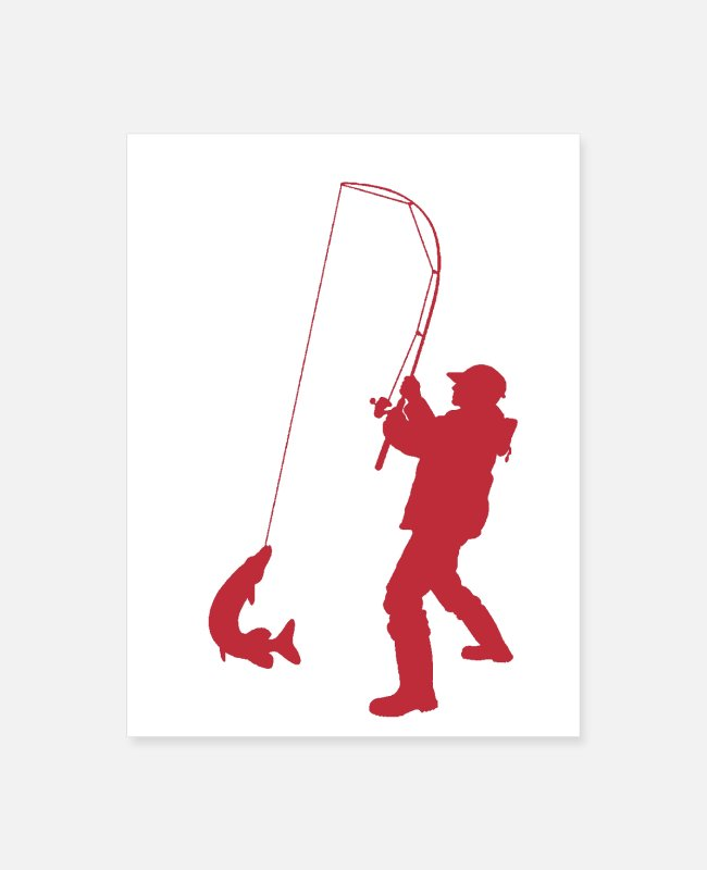Fish Hook Posters - Fishin' - Poster white