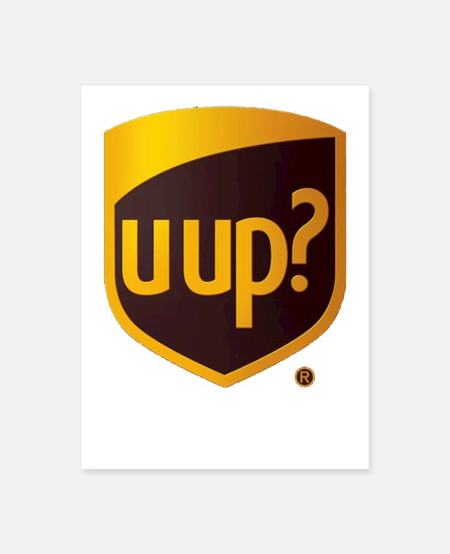 Usa Posters - uups United P Service - Apparel - Poster white