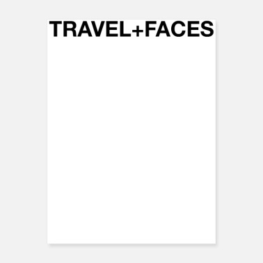 Hygiene Travel + Faces - Poster