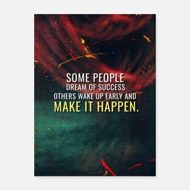 Motivational Abstract Motivation - Make it Happen - Poster