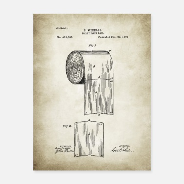 Paper Toilet Paper Patent - Poster