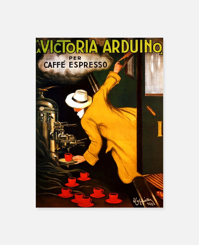Italian Posters - Coffee Vintage Poster - Poster white