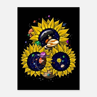 Solar Space Sunflowers - Poster