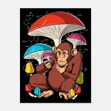 Ape Stoned Ape Theory Magic Mushrooms - Poster