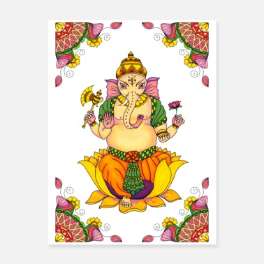 India Ganesha Poster with corners - Poster