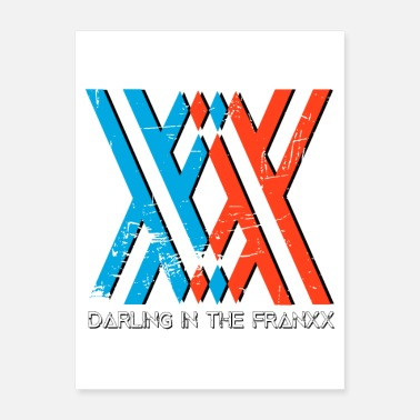 Darling darling in the franxx Anime manga logo design - Poster