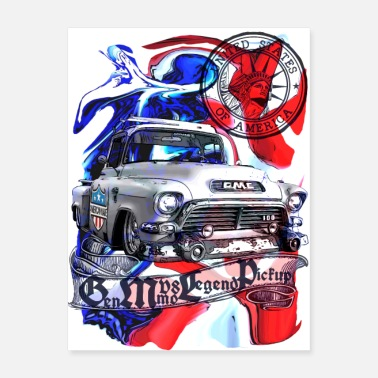 V8 Low fast V8 legend Pickup United States colorful - Poster