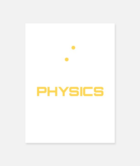 Engineering Posters - Eat Sleep Physics Repeat - Poster white