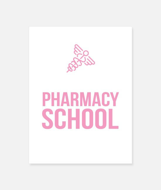 Medicine Posters - Eat Sleep Pharmacy School Repeat - Poster white