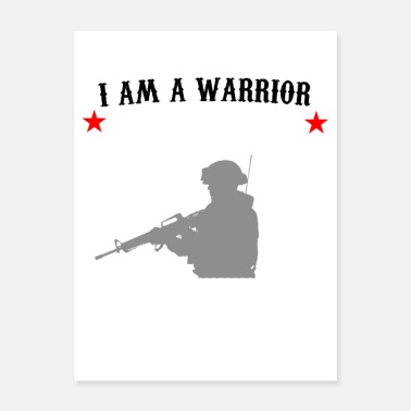 Am I AM THE SHEEPDOG I AM A WARRIOR I AM A PROTECTOR - Poster