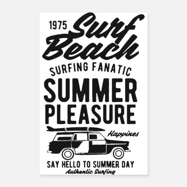 Beach Volleyball surf beach summer pleasure 1 - Poster 24x36