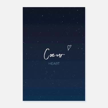 Romantic Coeur - Heart - Beautiful French Romantic Poster - Poster
