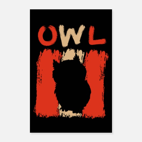 Vintage Posters - 70s 80s Retro Owl Design Vintage Gift - Posters white