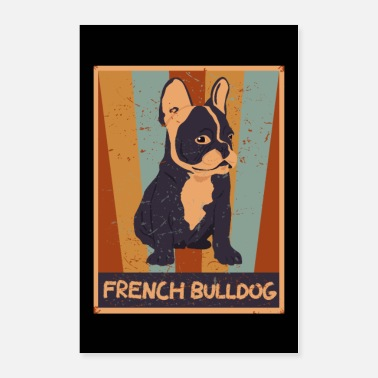 Vintage Lover 70s Vintage Frenchie Gift Retro French Bulldog - Poster