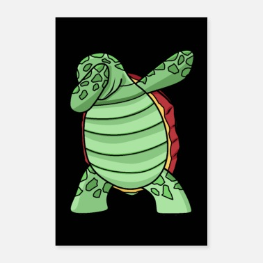 Sea Dabbing Sea Turtle Clothes Dab Dance Gift Sea Turt - Poster