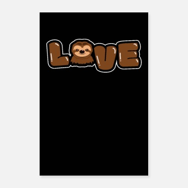Halloween LOVE Sloth Clothing Tee Gift Sloth - Poster