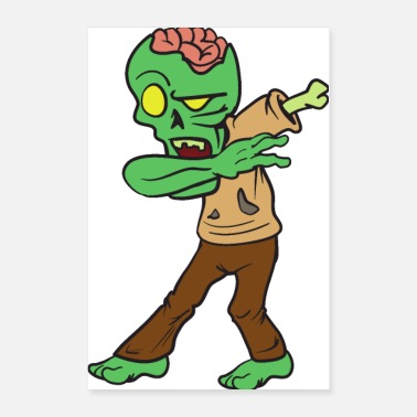 Trick Or Treat Dabbing Dab Dancing Halloween Monster Zombie - Poster 24x36