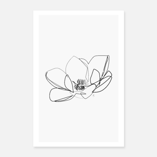 Art Posters - Magnolia Flower - Posters white