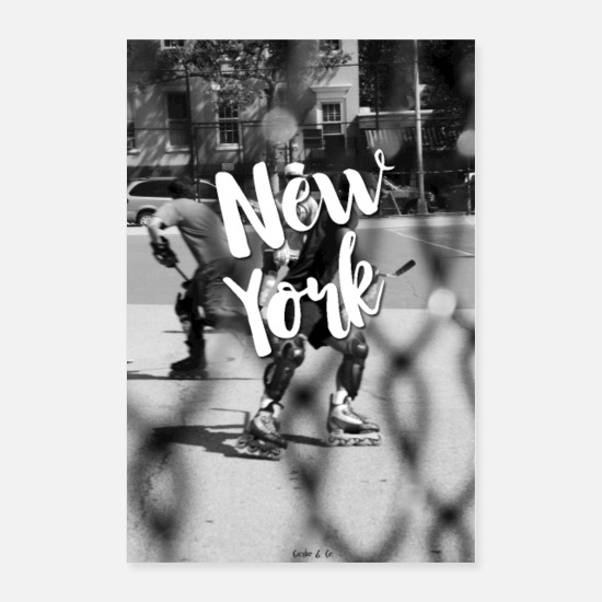 Typography Posters - New York - Posters white