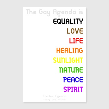 Rainbow The Gay Agenda is... Poster - Poster 24x36