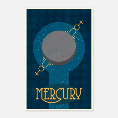Space mercury poster - Poster
