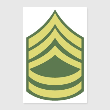 Military uniform US Army Sergeant First Class SFC - Poster 24x36