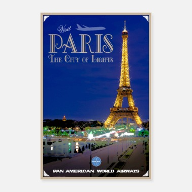 Paris Vintage Paris Travel Poster - Poster