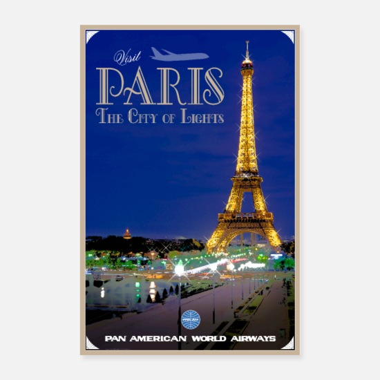 Travel Posters - Vintage Paris Travel Poster - Posters white