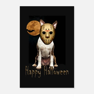 Boston Jason - Halloween Boston Terrier - Poster