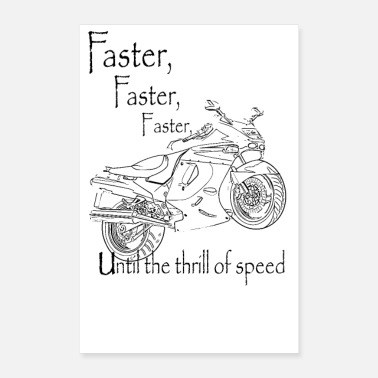 Cycling motor cycle By LindezaDesign - Poster 24x36