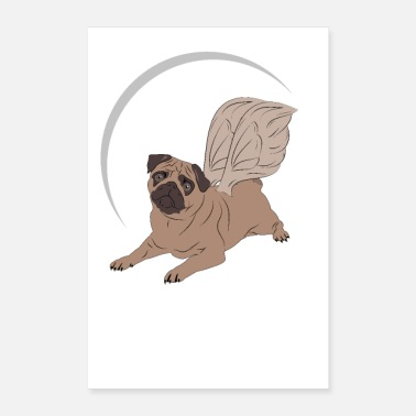 Angel Angel Dog By LindezaDesign - Poster 24x36