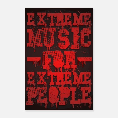 Metalcore Extreme Music for Extreme People - Poster Red - Poster