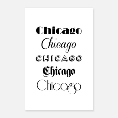 Chicago Chicago City Quote Sign - Poster
