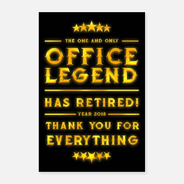 Worker Office Legend Retirement 2018 Gold Award Poster - Poster 24x36