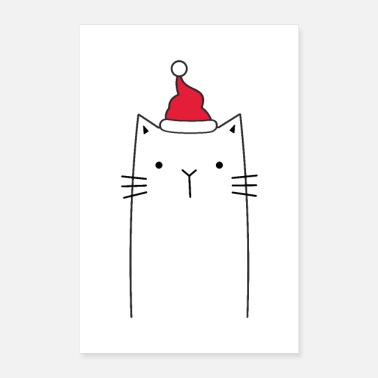 Santa Claus Cat Santa Claus Santa Claus Decoration - Poster 24x36