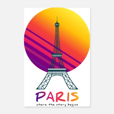 Neon Paris - where the story begins - Poster 24x36