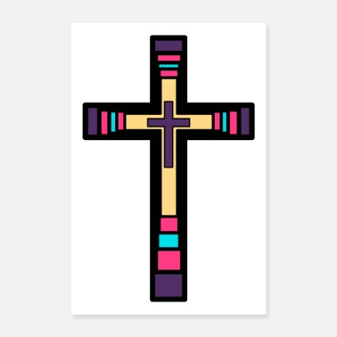 God CROSS JESUS GOD - Poster