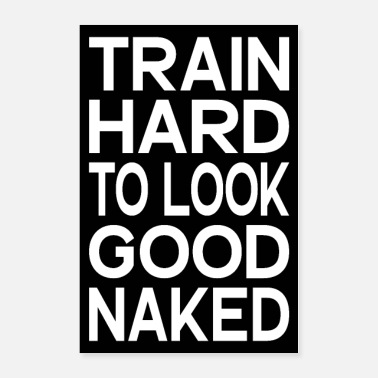 funny gym fitness workout quote motivation poster - Poster