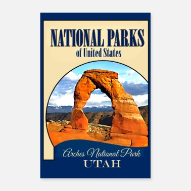 Print Travel Poster National Parks USA - Poster
