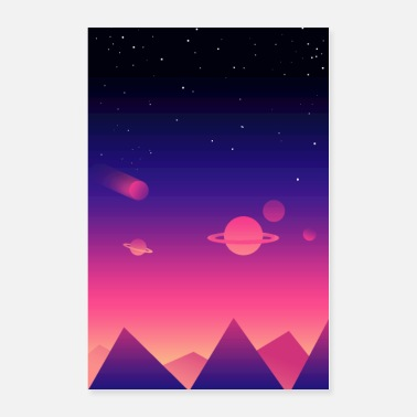 Background Galaxy Background - Poster