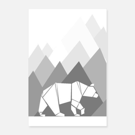 Gift Idea Posters - Bear cold - Posters white