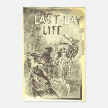 Cinema The Last Day of Life - vintage cinema poster - Poster