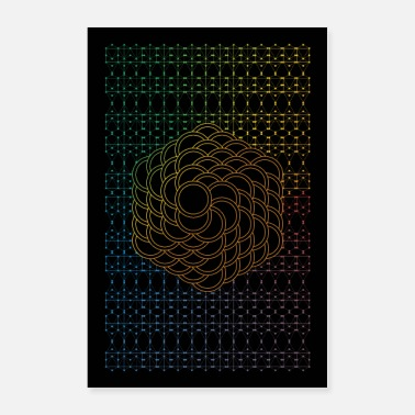 Flower Of Life Orange Flower of Life - Poster