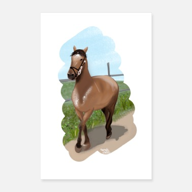 Dressage Horse Horse riding - Poster