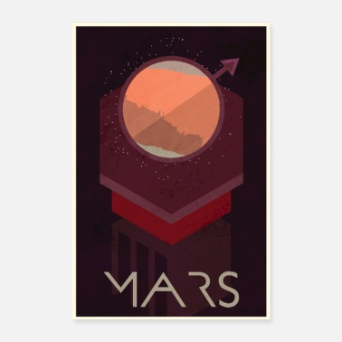 Space Mars Poster - Poster