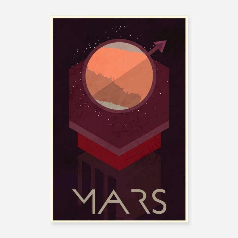 Goodies Posters - Mars Poster - Posters white