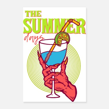 Arttowear A Drink From Hell - THE SUMMER DAYS - Devils Hand - Poster