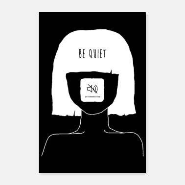 Head Coach Be Quiet - Muted Mind Poster (black) - Poster
