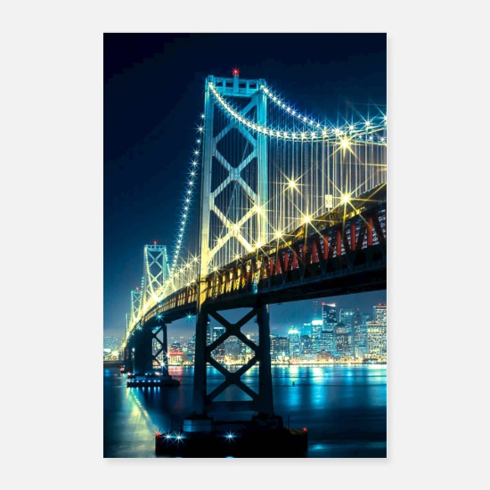 Travel Posters - Bridge Lights - Posters white